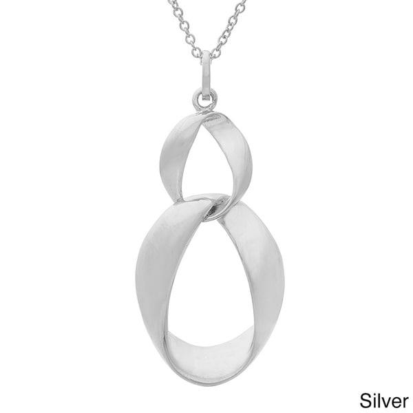Gioelli Sterling Silver Hanging Double Loop Pendant
