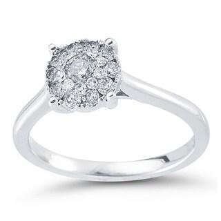 Sterling Silver 1/2ct TDW Diamond Unity Engagement Ring (I-J, I2-I3)
