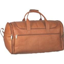 David King Leather 305 Extra Large Multi Pocket Duffel Tan