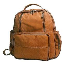 David King Leather 332 Laptop Pack Tan