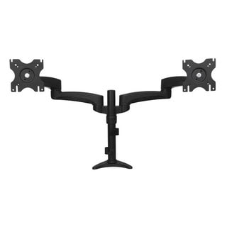 Articulating Dual Monitor Arm - Grommet / Desk Mount with Cable Manag