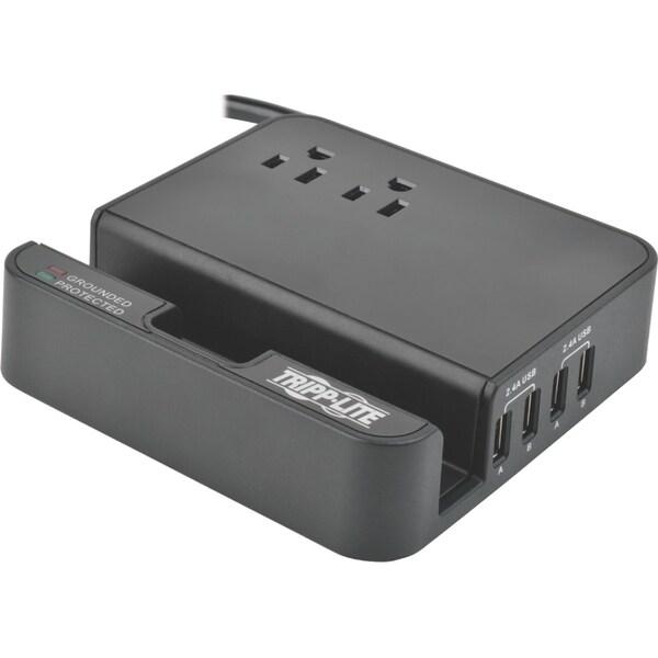 Tripp Lite 4-Port USB Charging Station Surge 2 Outlet Ipad Tablet Sta