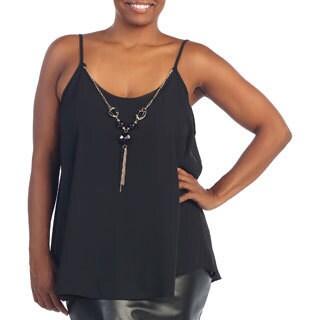 Hadari Women's Plus Size Necklace Spaghetti Strap Top