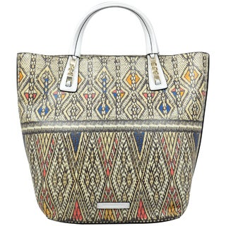 BCBGeneration Women's 'Sienna' White Printed Tapestry Tote Handbag