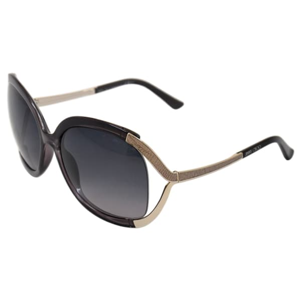 Jimmy Choo Women's Beatrix/S 0Y3X/HD Dark Smoke Round Sunglasses
