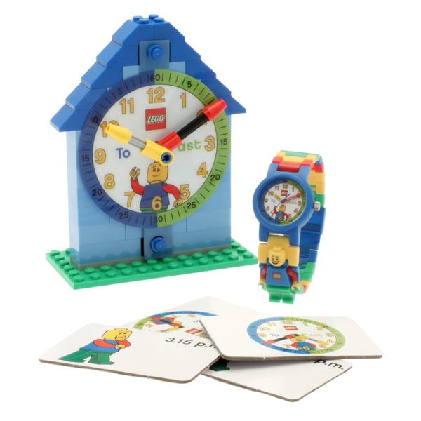LEGO Boy Time Teacher Kid's Minifigure Interchangeable Links Watch and Clock
