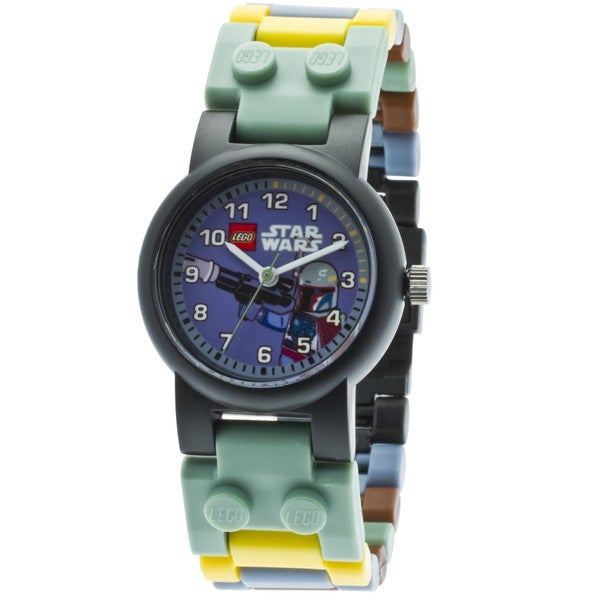 LEGO Kids' 9003363 Star Wars Boba Fett Watch with Minifigure