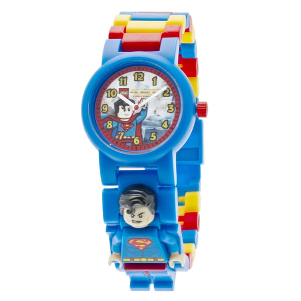 LEGO Super Heroes Superman Kid's Minifigure Interchangeable Links Watchnk Watch