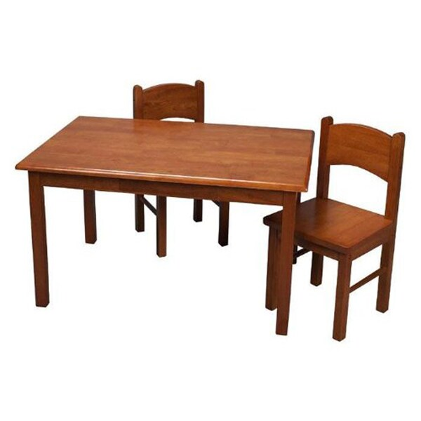 Children's 3-piece Natural Hardwood Table and Chair Set