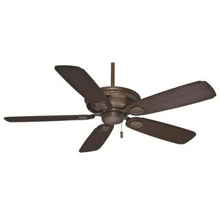 Casablanca 60-inch Heritage Aged Bronze Fan with Adirondack-outdoor Carved Featherwood Blades