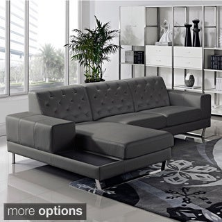 Stella Contemporary Chaise Leather Sectional Sofa Set