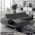 Stella Contemporary 2-piece Leather Sectional Sofa Set