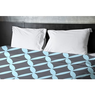 68 x 88-inch Omar and Steel Geometric Duvet Cover