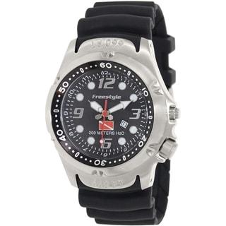 Freestyle Men's Dive 101947 Black Silicone Black Dial Quartz Watch