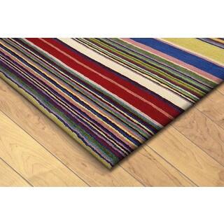 Stripes Multi Indoor Rug (2'X8')