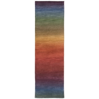 Rainbow Stripe Multi Indoor Rug (2'3X8')