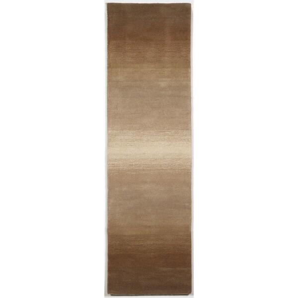 Rainbow Stripe Neutral Indoor Rug (2'3X8')