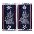 Superior Oversized Cotton Jacquard Beach Towels Ship (Set of 2)