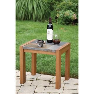 Slate and Eucalyptus End Table