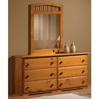 Classic Honey Wood 6-drawer Dresser