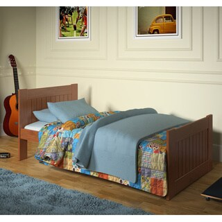 Cinnamon Wood Twin Mates Bed with Optional Drawers or Trundle