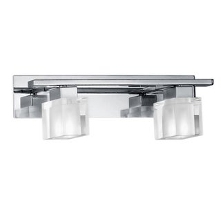 Chrome 2-light Wall Sconce with Frosted Glass