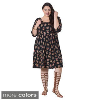 Sealed with a Kiss Women's Plus Size 'Stella' Floral Dress