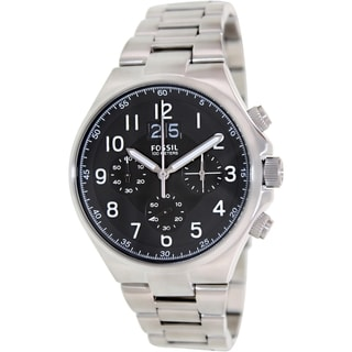 Fossil Men's Qualifier CH2902 Stainless Steel Black Dial Watch