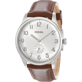 Fossil Men's Agent FS4851 Brown Leather Watch