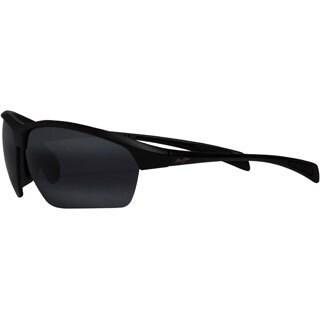 Maui Jim 'Stone Crushed' Gloss Black Polarized Wrap Sunglasses
