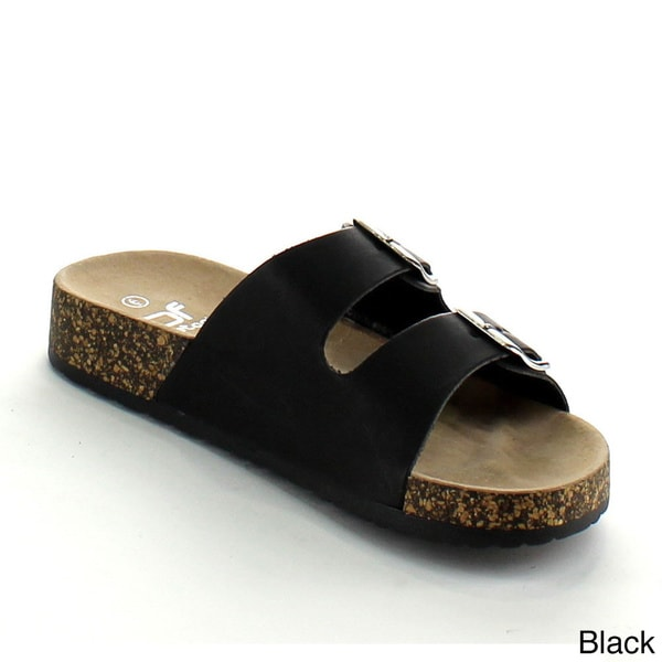 BETANI HARPER-2 Women's Double Strap Cork Sandals