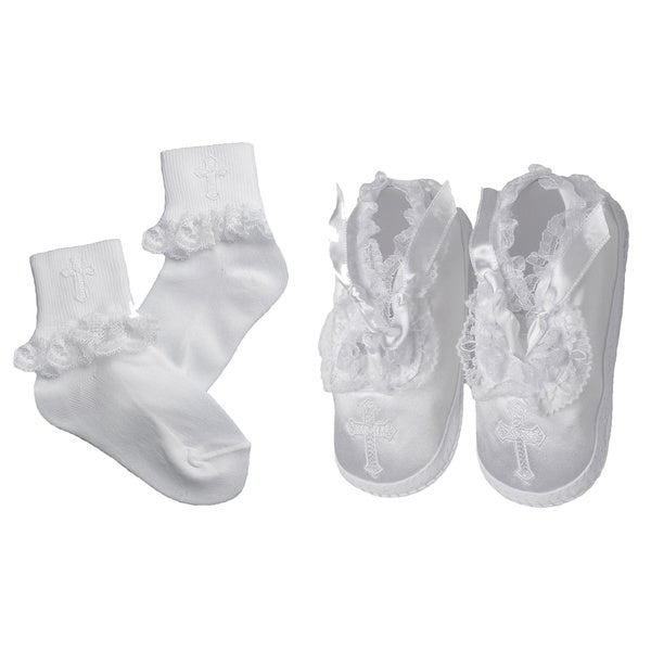 Girls' Christening/ Special Occasion Matching Shoes and Socks Set