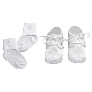 Boys Christening/ Baptism/ Special Occasion Shoes and Socks Set