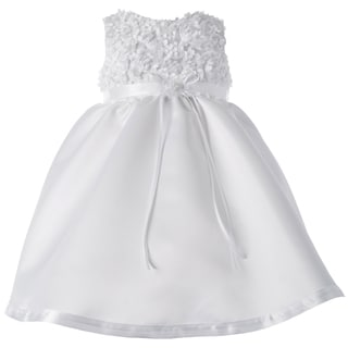 Small World Girls' Christening Satin Dress
