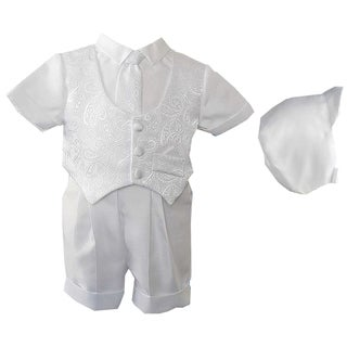 Boys 3-piece Christening /Baptism Short Set Suit