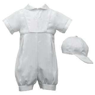 Boys Christening/ Baptism/ Special Occasion Bengaline Romper Set