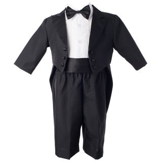 Small World Boys' Black Christening Tuxedo