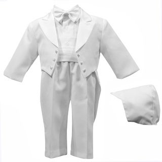 Boys White Special Occason Christening 5-piece Tuxedo