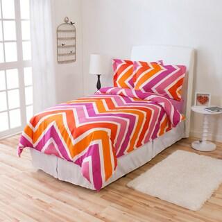 Melrose Ivy Union 2-piece Chevron Comforter Set
