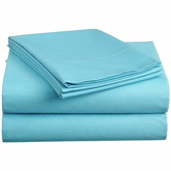 Aqua Twin XL Dorm Sheet Set