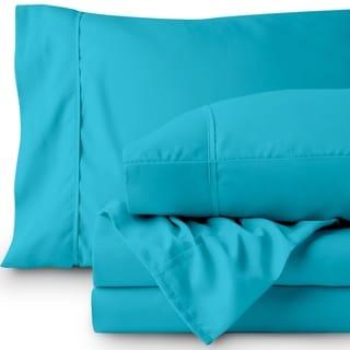 Aqua Twin XL Dorm Sheet Set