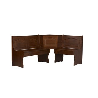 Linon Chelsea Walnut Brown Pine Wood Corner Bench