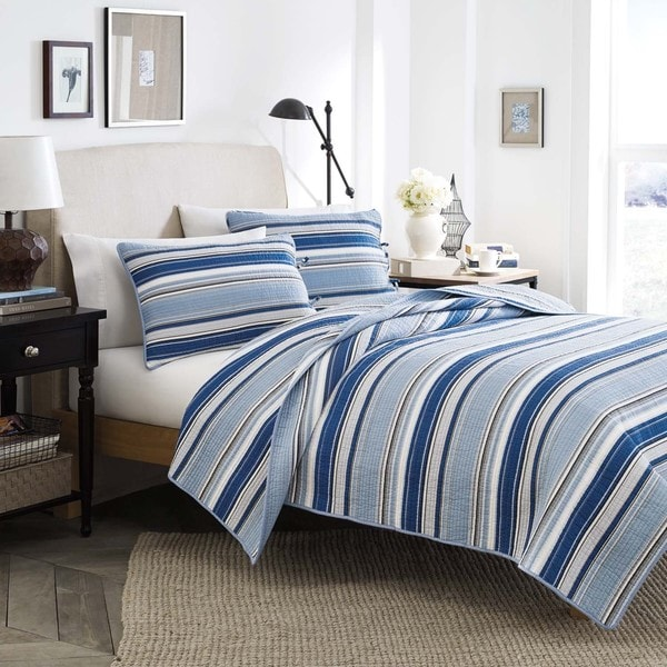 Stone Cottage Fresno Blue 3-piece Cotton Quilt Set (As Is Item)