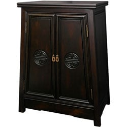 Merbu Wood 'Long Life' Oriental Cabinet (China)