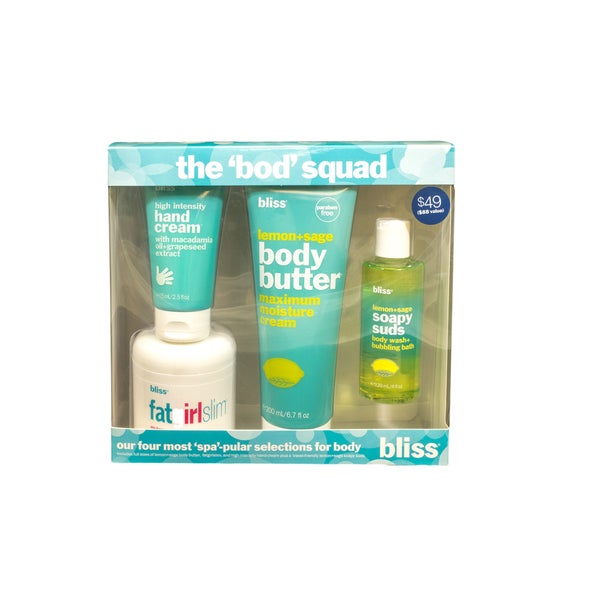 Bliss The Bod Squad 4-piece Skin Care Kit