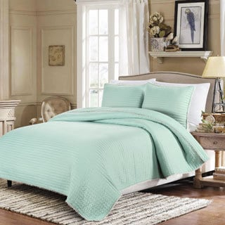 Pom Pom Steel Blue 3-piece Quilt Set