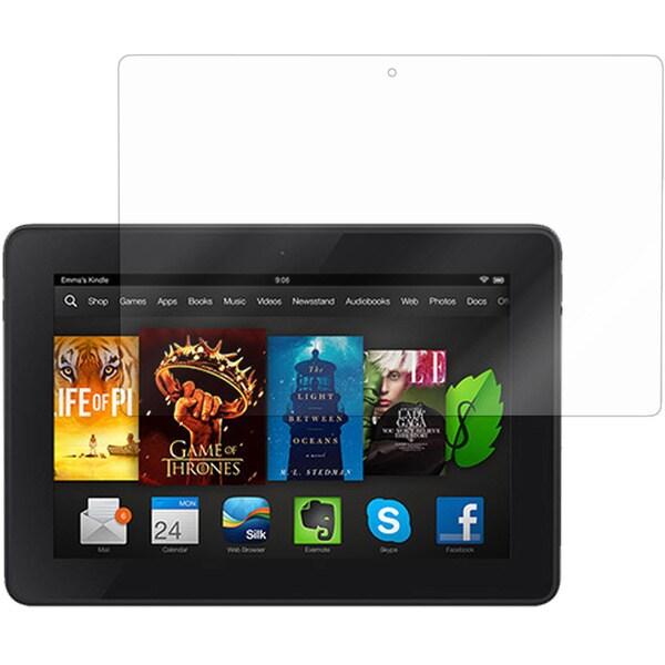 roocase Ultra HD Plus Screen Protector Clear Film (Bubble Free) for Amazon Kindle Fire HDX 7
