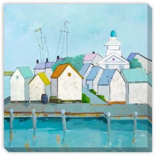 Jenny Gray's 'At The Harbor' Canvas Gallery Wrap Art