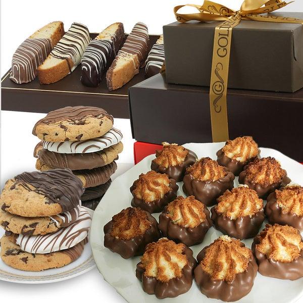 Belgian Chocolate Covered Cookie Tower (36 Cookies)