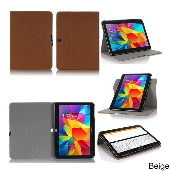 GearIT 360 Spinner Folio Rotating Case Cover for Samsung Galaxy Tab 4 10.1 SM-T530